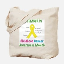 Unique Childhood cancer Tote Bag