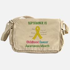 Cute Childhood cancer awareness Messenger Bag