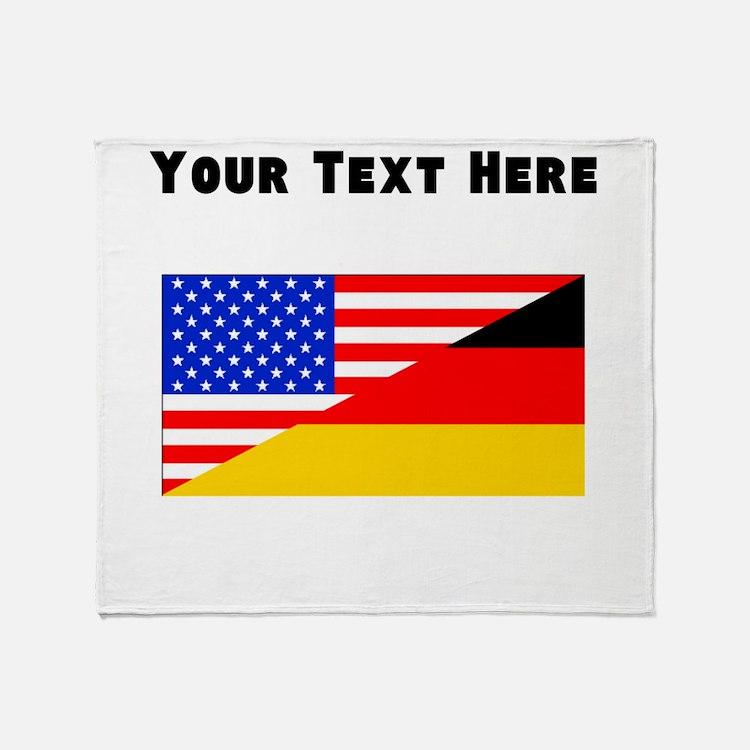 German American Flag Throw Blanket