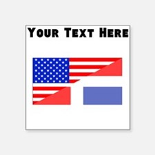 Dominican American Flag Sticker