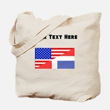 Dominican American Flag Tote Bag