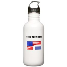 Dominican American Flag Water Bottle