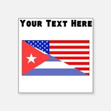 Cuban American Flag Sticker