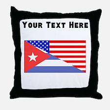 Cuban American Flag Throw Pillow