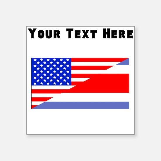 Costa Rican American Flag Sticker