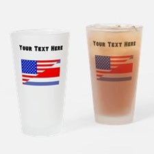 Costa Rican American Flag Drinking Glass