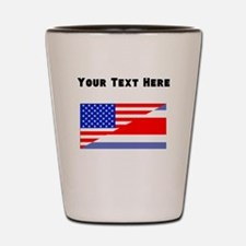 Costa Rican American Flag Shot Glass