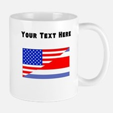 Costa Rican American Flag Mugs