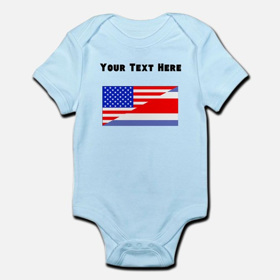 Costa Rican American Flag Body Suit