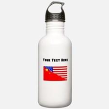 Chinese American Flag Water Bottle
