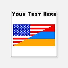 Armenian American Flag Sticker