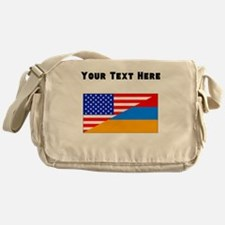 Armenian American Flag Messenger Bag