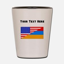 Armenian American Flag Shot Glass