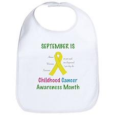 Sept Childhood Cancer Awareness Bib