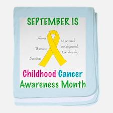 Sept Childhood Cancer Awareness baby blanket