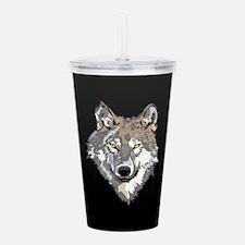 Lone Wolf Acrylic Double-Wall Tumbler