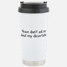 Cute Phd Stainless Steel Travel Mug