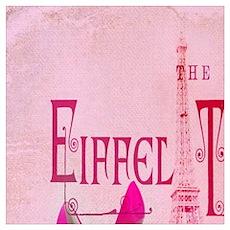 shabby chic vintage paris Poster