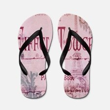 girly chandelier vintage paris  Flip Flops
