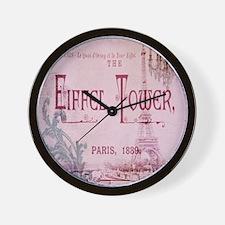 girly chandelier vintage paris  Wall Clock