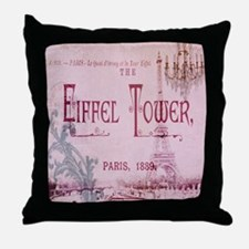 girly chandelier vintage paris  Throw Pillow