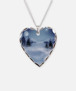 Winter night in the Mountains Necklace