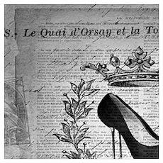 girly stilettos vintage paris Poster