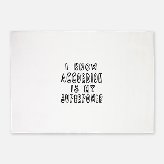 Accordion is my superpower 5'x7'Area Rug