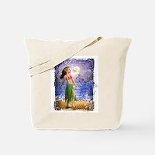 Hula Girl, Dolphin Ocean, Paradise, T Tote Bag