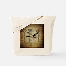 vintage rustic western duck Tote Bag