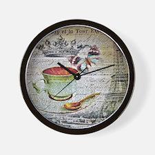 romantic chic paris coffee Wall Clock