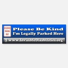 I'm Legally Parked Here Bumper Car Car Sticker