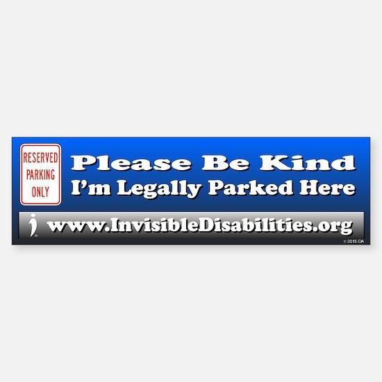 I'm Legally Parked Here Bumper Car Car Sticker