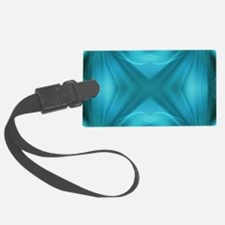 abstract teal geometric pattern Luggage Tag