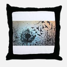 Wulan's Dandelion Throw Pillow