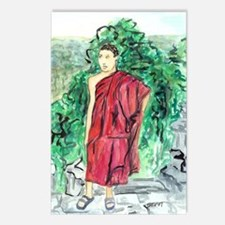 Red Robe Buddhist Monk Postcards (package Of 8)