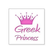 "Cute Greek flag Square Sticker 3"" x 3"""