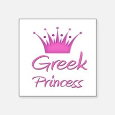 "Cute Greek Square Sticker 3"" x 3"""