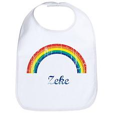 Zeke vintage rainbow Bib