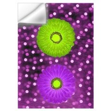 Abstract Flowers Wall Decal