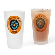 CRPS RSD Color My World Orange Drinking Glass