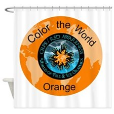 CRPS RSD Color the World Orange Shower Curtain