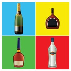 liquor pop art Poster