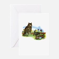 Vintage - Playful Kittens and Cats Greeting Card