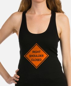 Right Shoulder Closed Racerback Tank Top