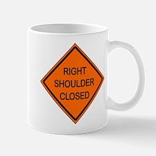 Right Shoulder Closed Mug