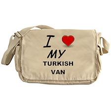 turkish van love Messenger Bag