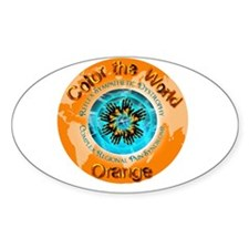 Color the World Orange CRPS RSD Starburst Decal
