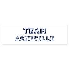Team Asheville Bumper Bumper Bumper Sticker