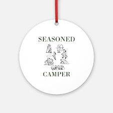 Seasoned Camper Round Ornament